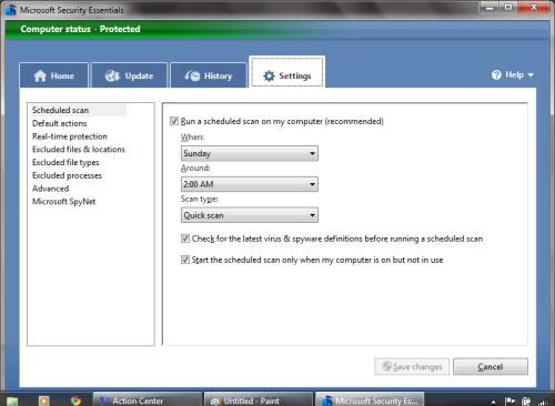 Hướng dẫn cài đặt và cấu hình Microsoft Security Essentials