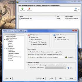 Chuyển tài liệu Office sang định dạng HTML hoặc PDF