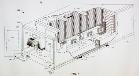 A diagram of a Google modular data center