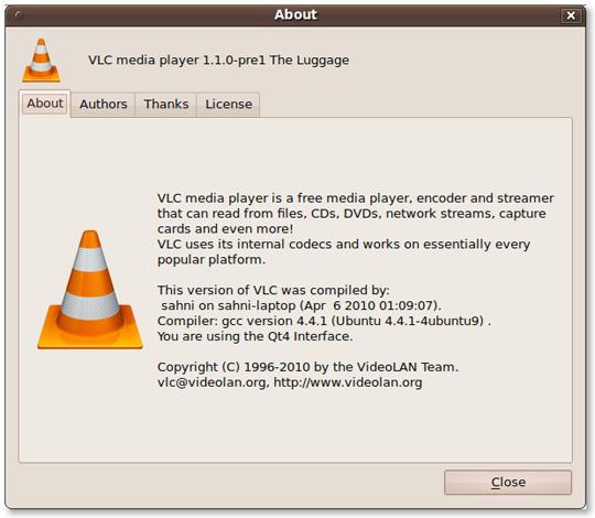 Hướng dẫn cài đăt VLC 1.1 từ Git trong Ubuntu Linux