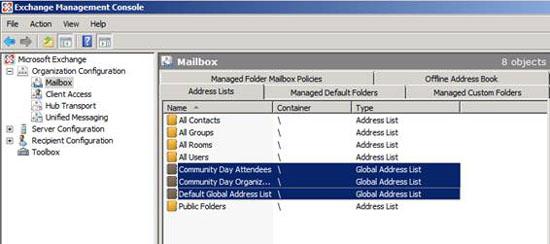 Danh sách địa chỉ trong Exchange 2007 – Phần 1 - Quantrimang com