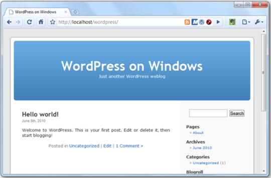 Cài đặt các ứng dụng web với Windows Web Platform