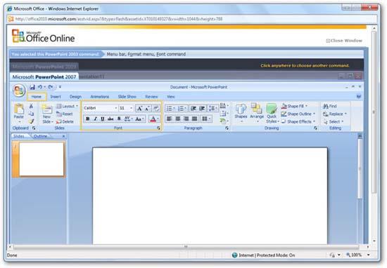 Tìm các lệnh Office 2003 trong Office 2010