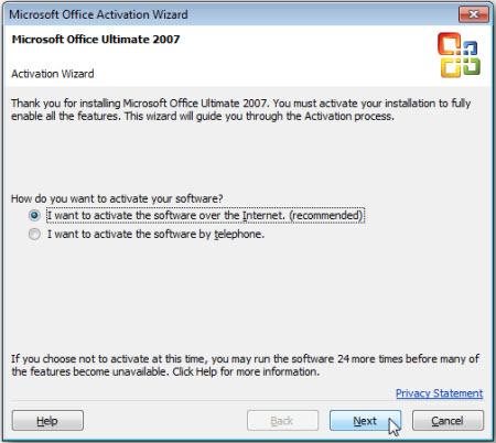 Kích hoạt và nâng cấp miễn phí từ Office 2007 lên 2010