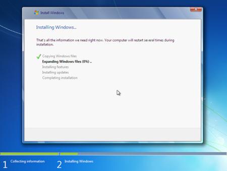 Tạo phân vùng trong quá trình cài đặt Windows 7