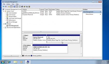 Mở rộng phân vùng hệ thống trong Windows 7 1