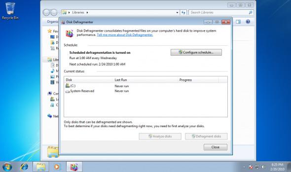 Chống phân mảnh ổ đĩa nhanh chóng trong Windows 7 1