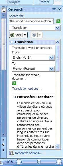 Dịch văn bản sang ngôn ngữ khác trong Microsoft Word 2007