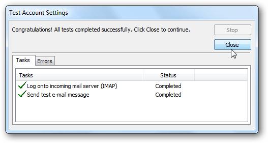 Thêm tài khoản Gmail vào Outlook 2010 với IMAP 1