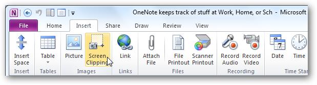 Làm việc với OneNote 2010