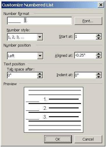 Tạo định dạng đánh số riêng trong Word