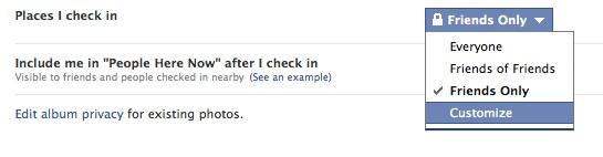 Facebook Places: cách chỉnh sửa cài đặt riêng tư