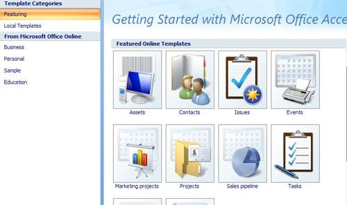 Bài 4: Tạo cơ sở dữ liệu mới trong Access 2007