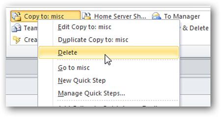 Tạo và quản lý Quick Steps trong Outlook 2010