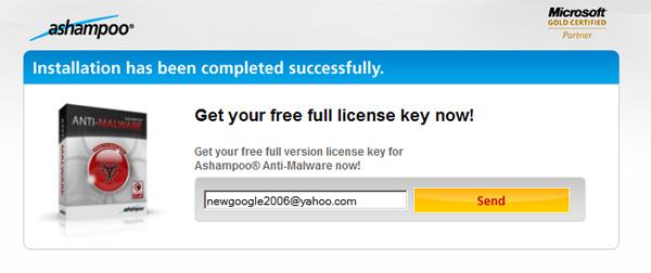 Miễn phí bản quyền Ashampoo Anti-Malware 1.21 trong vòng 180 ngày