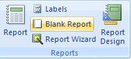 Bài 13: Tạo Reports (báo cáo) trong Access 2007