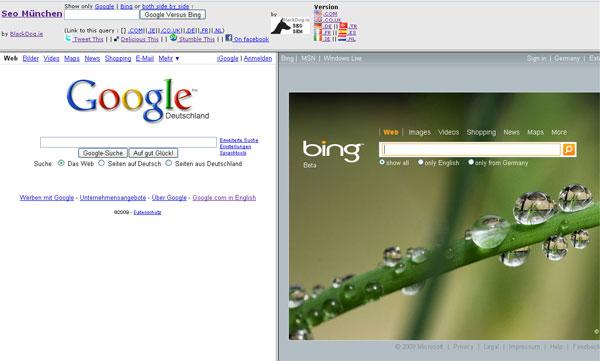 So sánh đánh giá Bing và Google