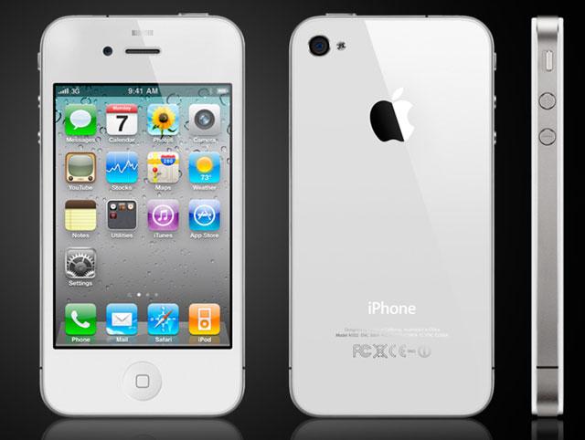 Какой у вас мобильный телефон?  Iphone-4-white