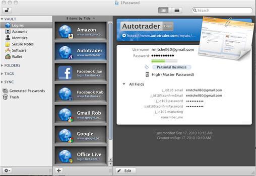 CAC tiện ích giúp quản lý mật khẩu  1Password