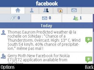 Ứng dụng Facebook cho Nokia E71/E72