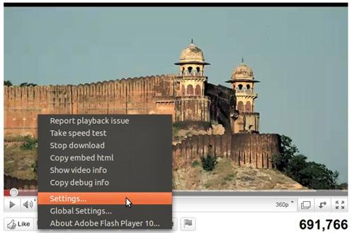 Không xem được video YouTube ở chế độ full screen trong Ubuntu Maverick 10.10