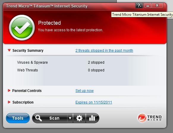 Miễn phí bản quyền 1 năm sử dụng Trend Micro Titanium Internet Security 2011