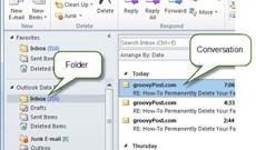 Làm sạch thư mục và email trên Outlook 2010