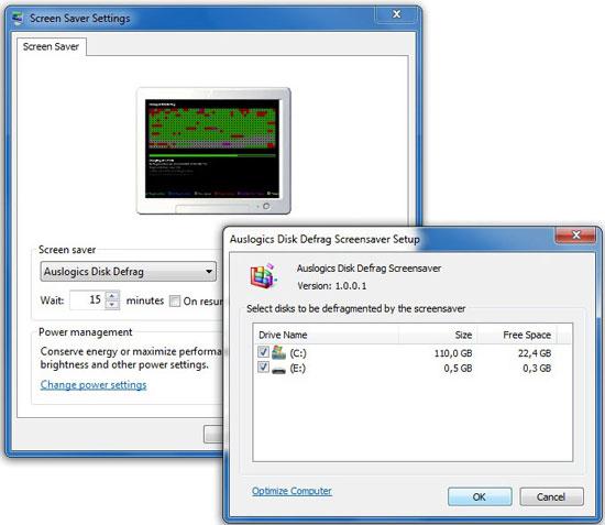 Biến screensaver thành trình dồn phân mảnh đĩa cứng