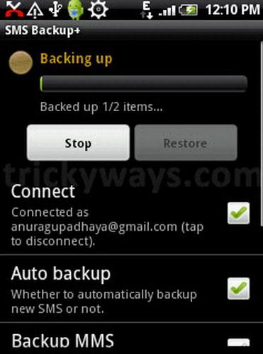 Sao lưu tin nhắn SMS từ Android vào Gmail 1