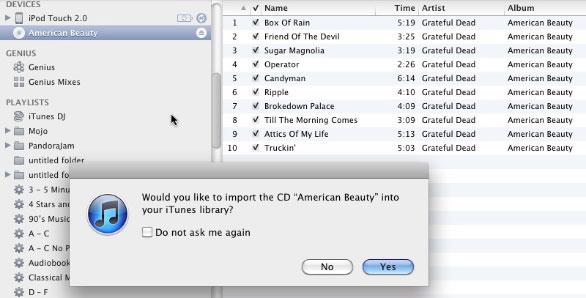 Sao chép nhạc từ CD vào iTunes 1