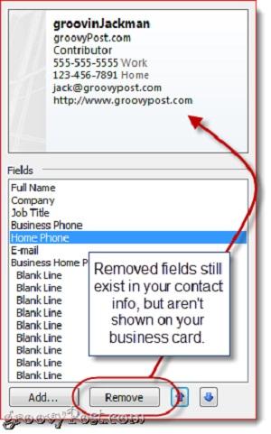 Hướng dẫn tạo chữ ký với Business Card trong Outlook