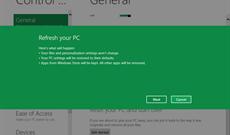Microsoft giới thiệu tính năng 'làm mới' trên Windows 8