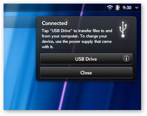 chọn chế độ USB Drive