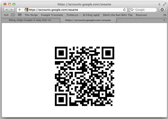 Đăng nhập vào tài khoản Google bằng mã QR