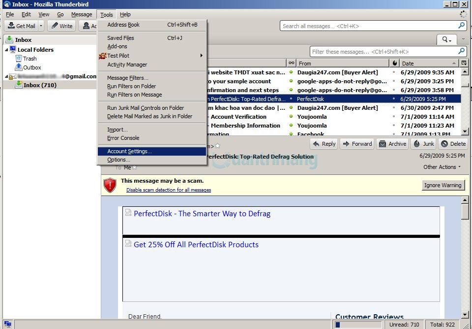 Hướng dẫn cấu hình, thiết lập email với Thunderbird