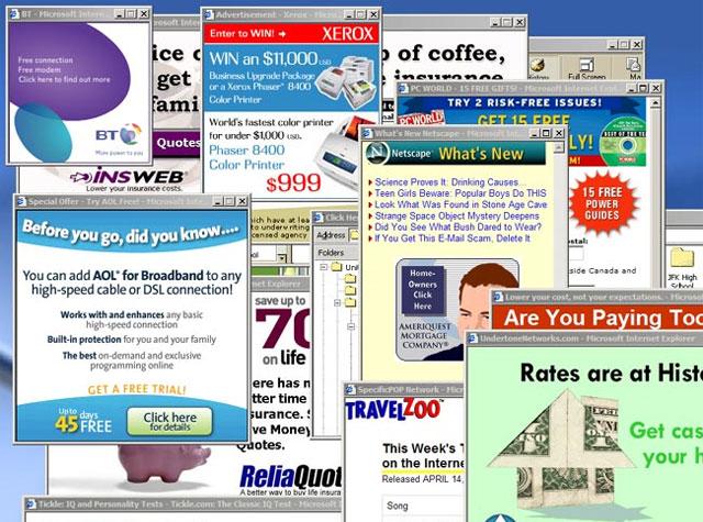Các trang pop-up khác nhau liên kết với nhiều loại malware khác nhau.