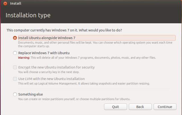 Cài đặt Ubuntu song song với Windows