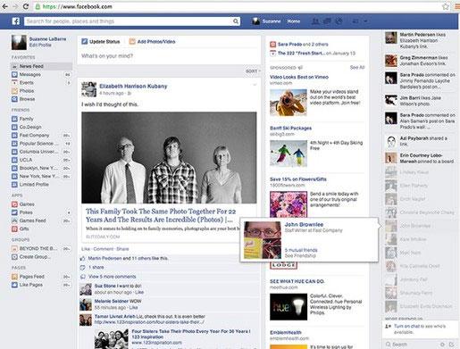 Facebook tiếp tục thay đổi giao diện mới