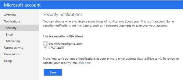 5 Lời khuyên bảo mật khi sử dụng tài khoản mail của Microsoft