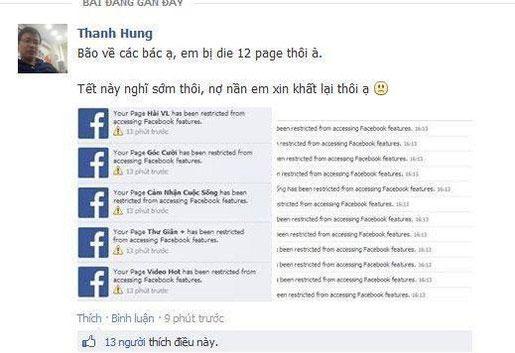 """Facebook thanh lọc, hàng loạt fanpage giải trí """"chết nhăn răng"""""""