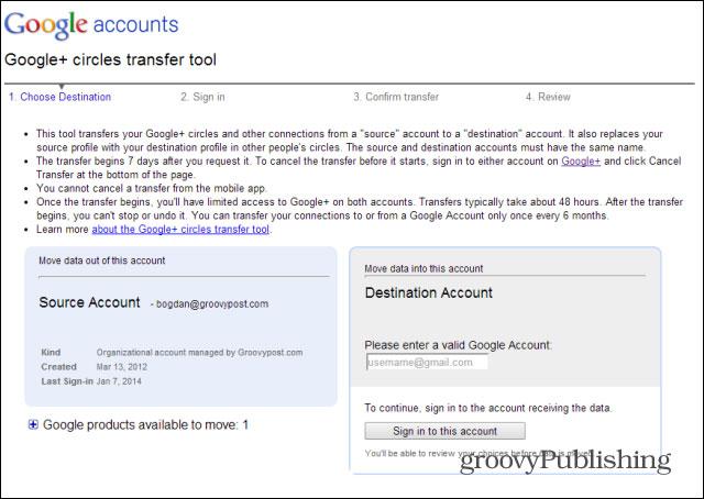 Làm thế nào để hợp nhất hai tài khoản Google+