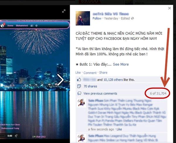 Trò lừa đổi giao diện gây bức xúc trên Facebook