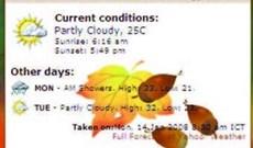 Yahoo Mash: Sử dụng Module dự báo thời tiết và Kính Vạn Hoa