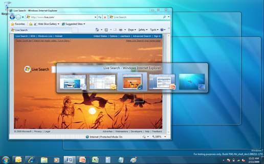 Những thay đổi trong bản Windows 7 RC