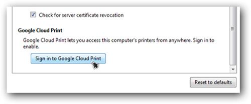 In tài liệu từ Gmail qua iPhone hoặc Android sử dụng Cloud Print