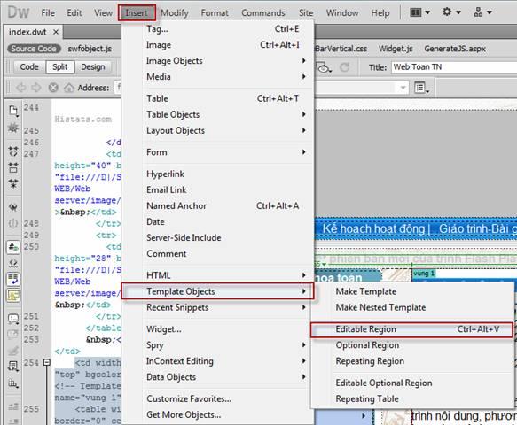 Thiết kế website bằng phần mềm Adobe Dreamweaver CS5 - Phần 3