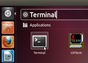 khởi động Terminal