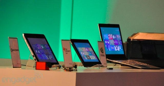 Những mẫu tablet, notebook dùng chip ARM và chạy Windows 8 tại Computex 2011.