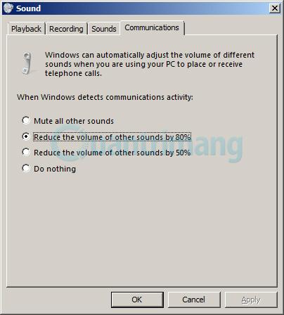 tùy chọn Sound