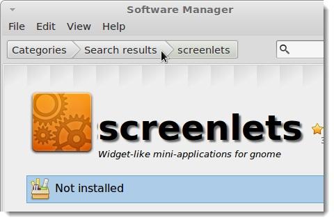 tình trạng screenlets